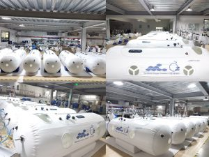 פס יצור של O2 ישראל במפעל ״מסי פן״ (Masi Pen) בסין